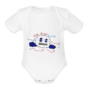Let it go cloud - Short Sleeve Baby Bodysuit