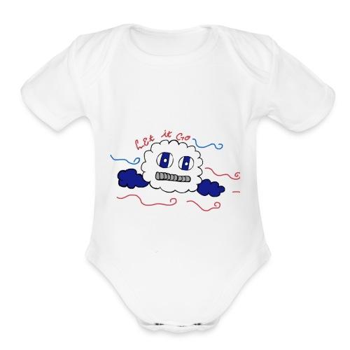 Let it go cloud - Organic Short Sleeve Baby Bodysuit