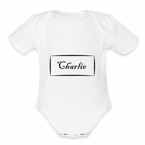 Charlies - Organic Short Sleeve Baby Bodysuit