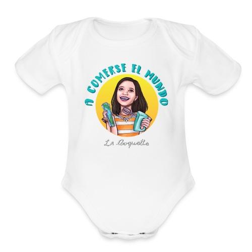 Comerse el mundo - La Cooquette - Organic Short Sleeve Baby Bodysuit