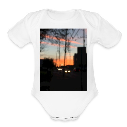 A blurry sunset - Organic Short Sleeve Baby Bodysuit
