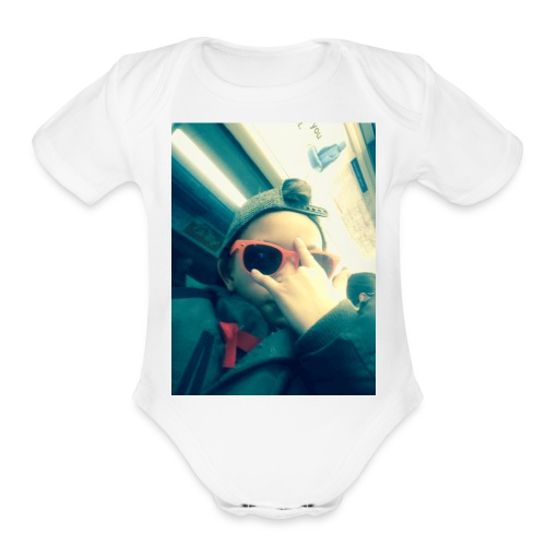 Hahhaa - Organic Short Sleeve Baby Bodysuit