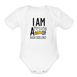 I AM A PRINCE OF BLACK EXCELLENCE - Short Sleeve Baby Bodysuit