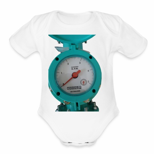 Meter - Organic Short Sleeve Baby Bodysuit