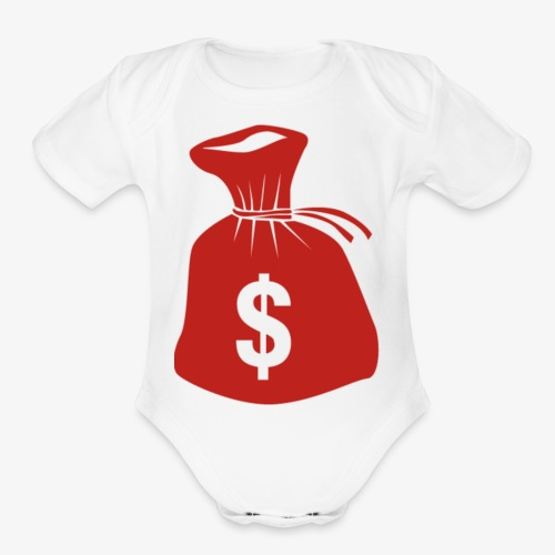 bag - Organic Short Sleeve Baby Bodysuit