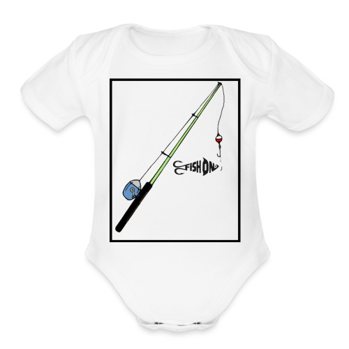 Fish On - Organic Short Sleeve Baby Bodysuit