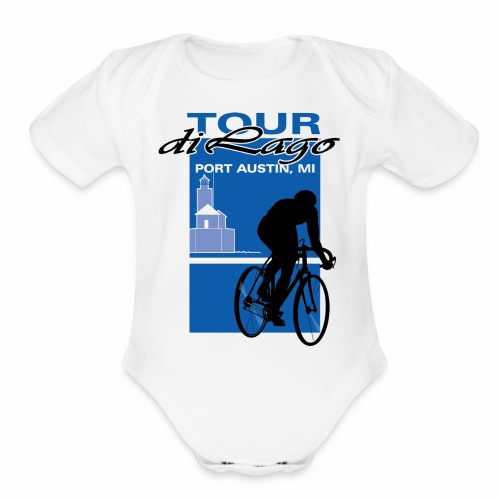 Tour di Lago - Organic Short Sleeve Baby Bodysuit