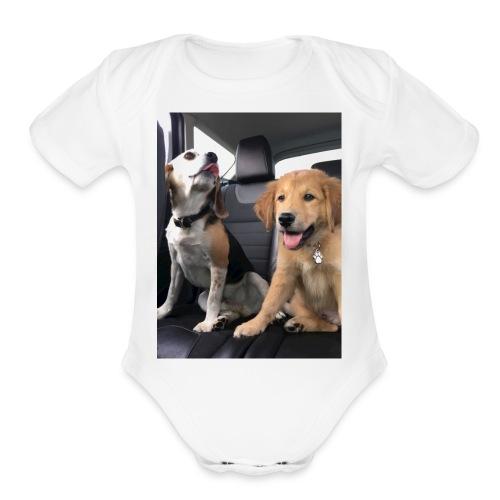 My dogs - Organic Short Sleeve Baby Bodysuit