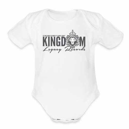 KINGDOM LEGACY RECORDS LOGO MERCHANDISE - Organic Short Sleeve Baby Bodysuit