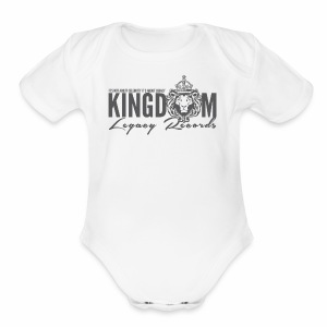KINGDOM LEGACY RECORDS LOGO MERCHANDISE - Short Sleeve Baby Bodysuit
