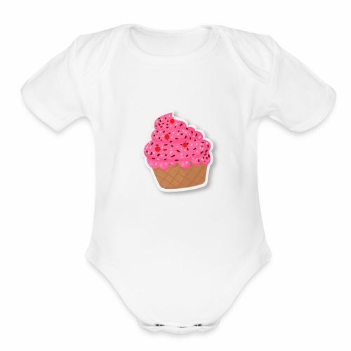 cupcake - Organic Short Sleeve Baby Bodysuit