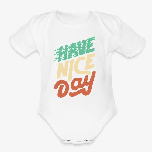 hace nice day - Organic Short Sleeve Baby Bodysuit