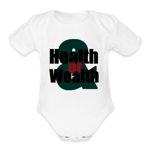 Health And Wealth - Organic Short Sleeve Baby Bodysuit
