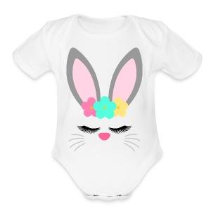 bunny unicorn - Short Sleeve Baby Bodysuit