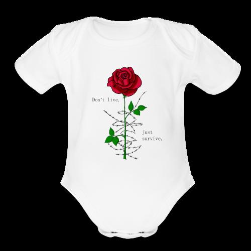 Rose - Organic Short Sleeve Baby Bodysuit