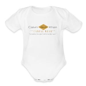 Black and Pink Tree Heart Beauty Logo 1 - Short Sleeve Baby Bodysuit