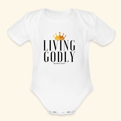 Living Godly Ministry Logo Tee - Organic Short Sleeve Baby Bodysuit