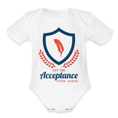 Get The Acceptance Letter Academy Logo - Organic Short Sleeve Baby Bodysuit