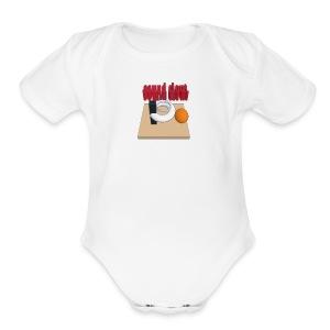 hoops - Short Sleeve Baby Bodysuit