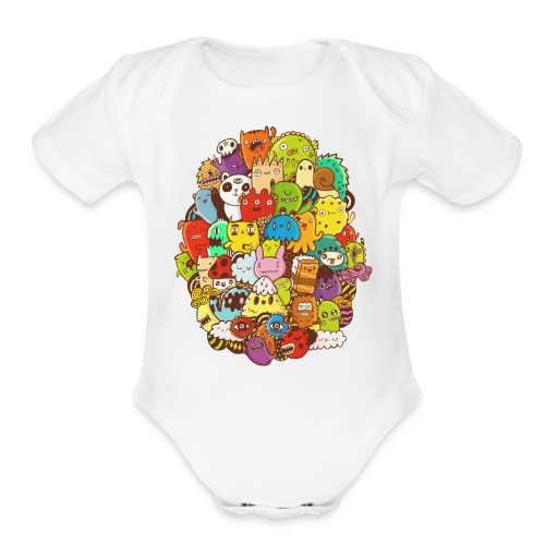 Doodle for a poodle - Organic Short Sleeve Baby Bodysuit