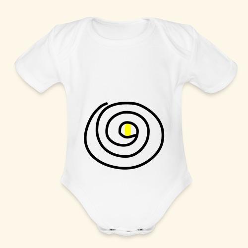 Eye Swirl - Organic Short Sleeve Baby Bodysuit
