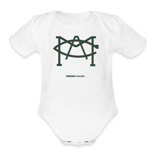MACLOGO - Organic Short Sleeve Baby Bodysuit