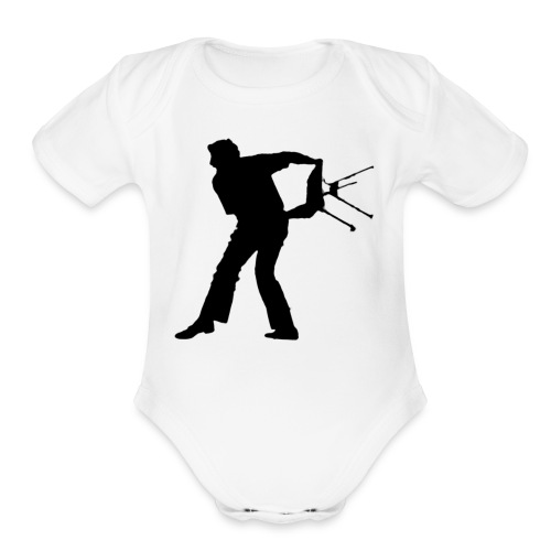 Chair Throwing Black - Organic Short Sleeve Baby Bodysuit
