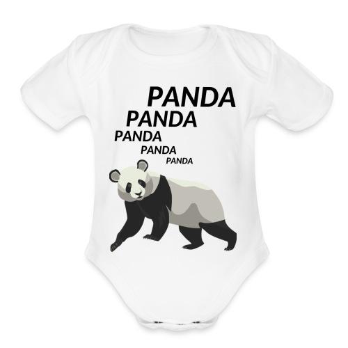 Panda Panda Panda - Organic Short Sleeve Baby Bodysuit