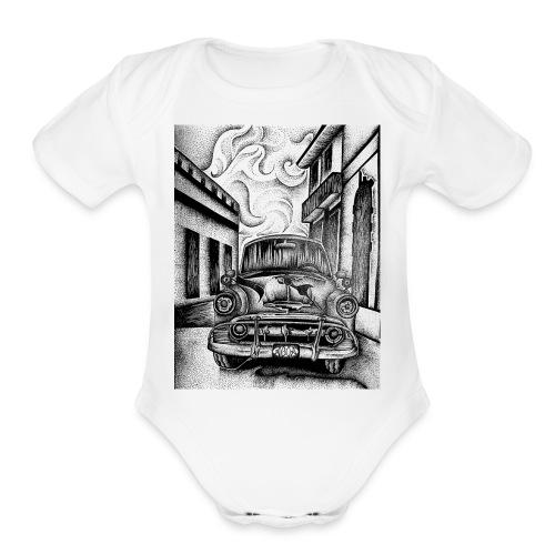 CHEVVYY - Organic Short Sleeve Baby Bodysuit
