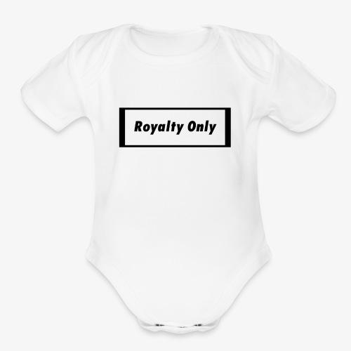 Royalty Only Original Merch - Organic Short Sleeve Baby Bodysuit