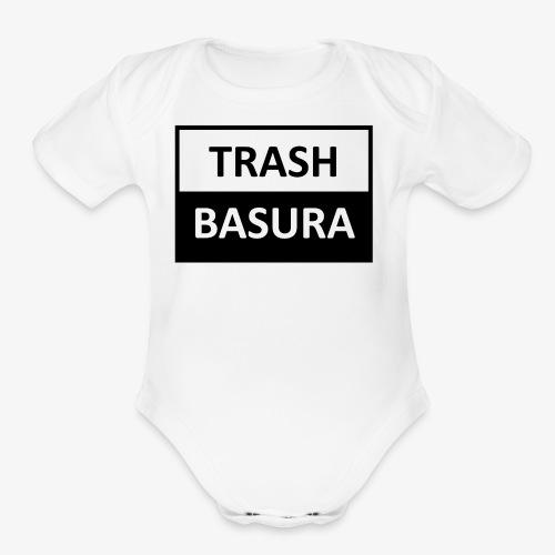 TRASH BASURA - Organic Short Sleeve Baby Bodysuit