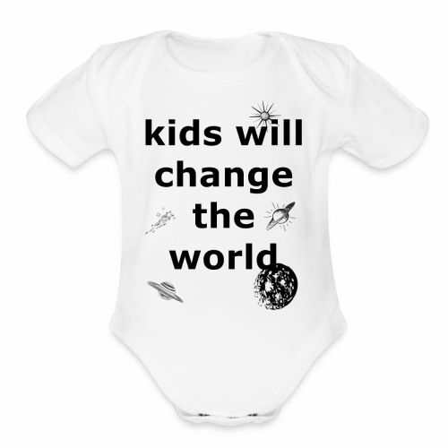 Change the World - Organic Short Sleeve Baby Bodysuit