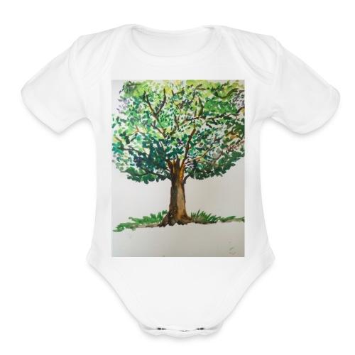 SHADES OF NATURE - Organic Short Sleeve Baby Bodysuit