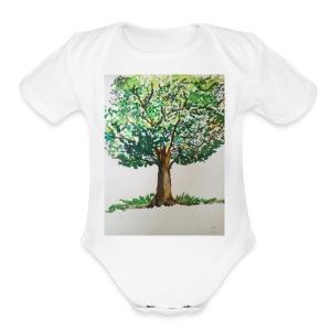 SHADES OF NATURE - Short Sleeve Baby Bodysuit