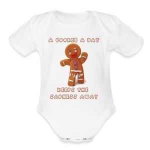 National Gingerbread Day - Short Sleeve Baby Bodysuit