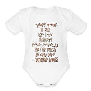 Beard - Short Sleeve Baby Bodysuit
