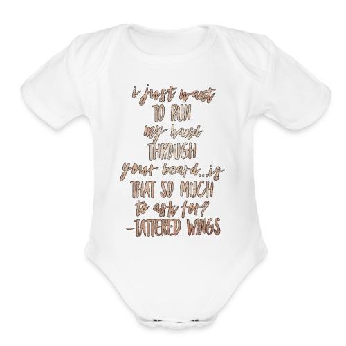 Beard - Organic Short Sleeve Baby Bodysuit