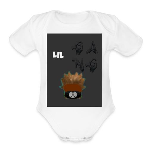lil gang extreme shirt - Organic Short Sleeve Baby Bodysuit