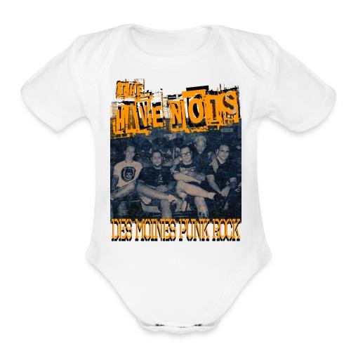 Have Nots original line up shirt 2 - Organic Short Sleeve Baby Bodysuit