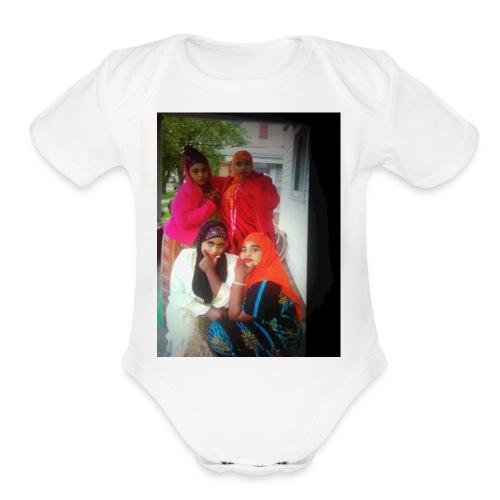 THE N.A.S.M family - Organic Short Sleeve Baby Bodysuit