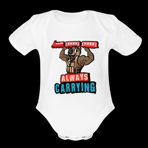 Always Carrying - Organic Short Sleeve Baby Bodysuit