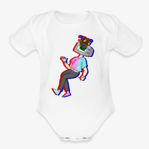 tv - Organic Short Sleeve Baby Bodysuit
