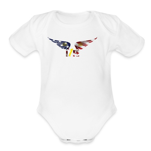 Patriotic1LifeLogo - Organic Short Sleeve Baby Bodysuit