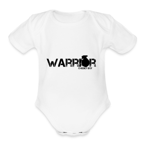 WARRIOR - Organic Short Sleeve Baby Bodysuit