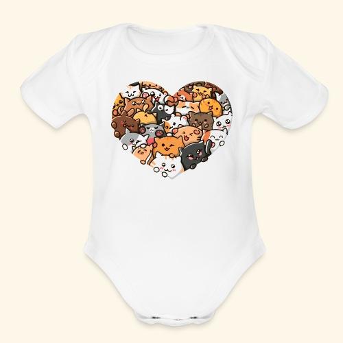 Cute Cats - Organic Short Sleeve Baby Bodysuit