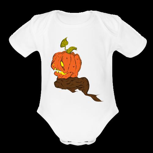Jack-o'-lantern - Organic Short Sleeve Baby Bodysuit