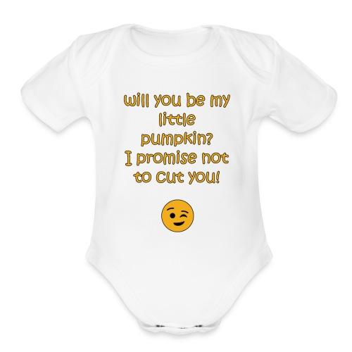 My little pumpkin - Organic Short Sleeve Baby Bodysuit