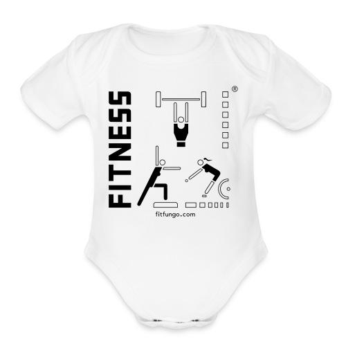 Logo_FitFunGo ! hummel - Organic Short Sleeve Baby Bodysuit