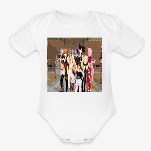 deadcast girls - Organic Short Sleeve Baby Bodysuit