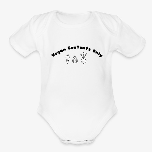 Vegan Contents Only - Organic Short Sleeve Baby Bodysuit